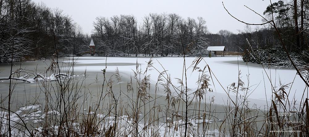 Etang des 3 ducs sous la neige