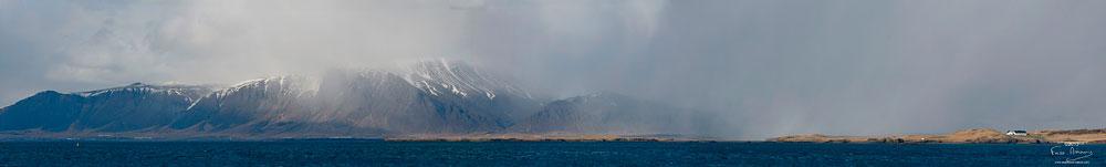 Reykjavik, vue sur la baie