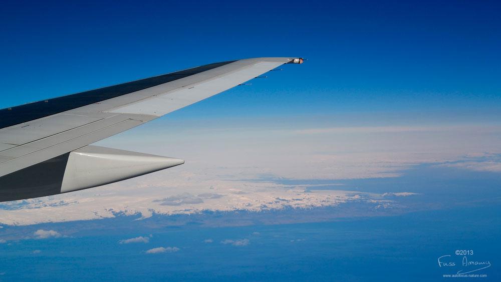 Premier vu de l'islande depuis l'avion