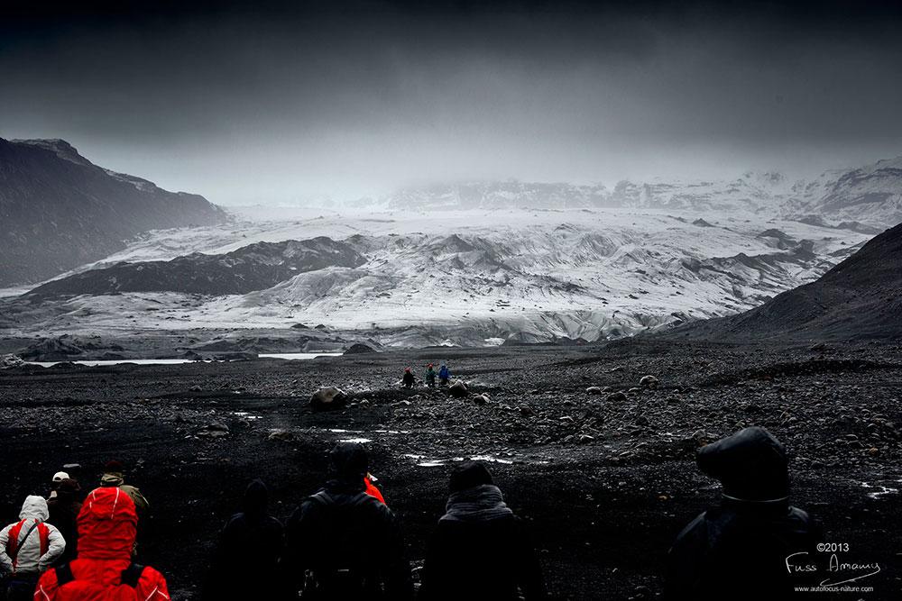 Islande langue glacière de Sölheimajökull