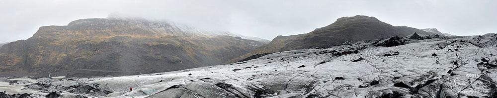 Islande langue glacière Solheimajokull